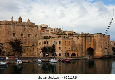 View of  Senglea from Vittoriosa. Three cities, Malta