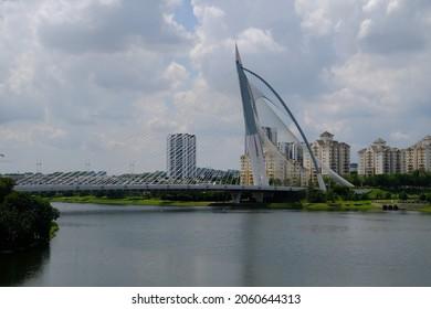 View Of Seri Wawasan Bridge at Putrajaya, Malaysia. Seri Wawasan Bridge is one of the main bridges in the planned city Putrajaya