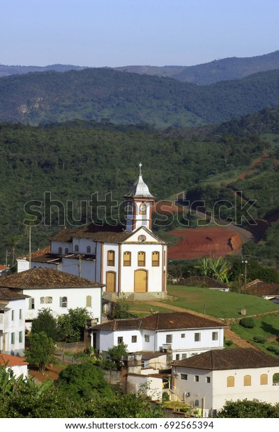 view of serro, colonial city in minas gaerais, brazil. Today is traditional artisan cheese.