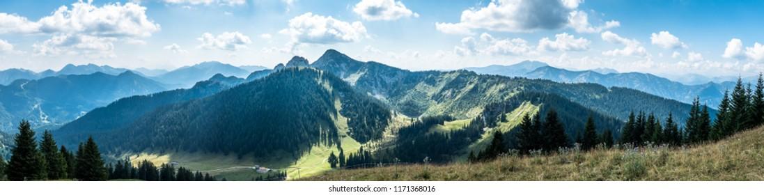 view from setzberg mountain - wallberg - bavaria