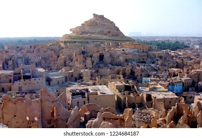 View of the Shali Fortress in Siwa Oasis is an oasis in Egypt, located between the Qattara Depression and the Egyptian Sand Sea in the Libyan Desert.