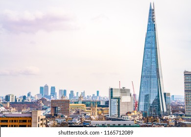 View of The Shard, also called as the Shard of Glass, Shard London Bridge and formerly London Bridge Tower, is a 95-story skyscraper - London, England, 3 October 2017