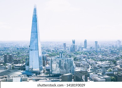View of the Shard in London Skyline