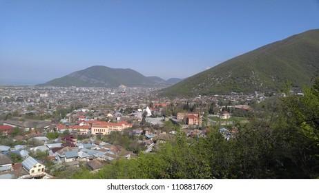 the view of Sheki, Azerbaijan