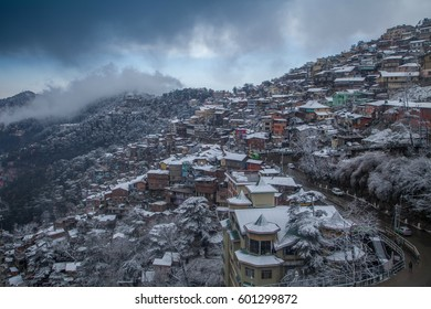 View of Shimla City after a snowstorm