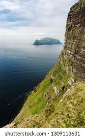 View of shore and rocks on Faroe islands, Denmark