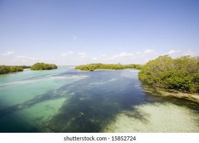View of Sian Ka'an wiliderness area - Yucatan Mexico