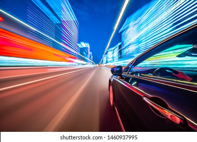 Night Highway Car Images Stock Photos Vectors Shutterstock