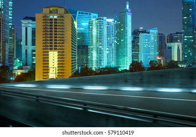 View from Side of flyover,blurred motion