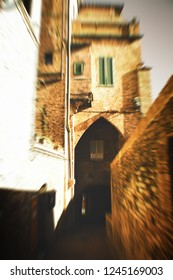View of Siena, street, Italy