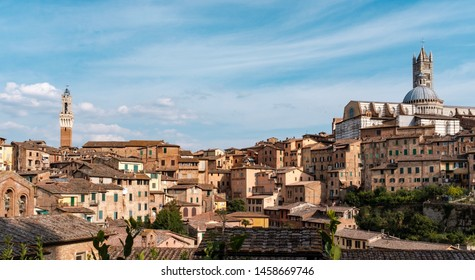 View of Siena in Tuscany.