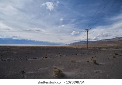 View of the Sierra Nevada through Owens Valley
