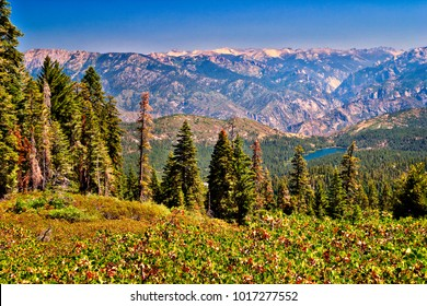 View of Sierra Nevada from Yosemite National Park.