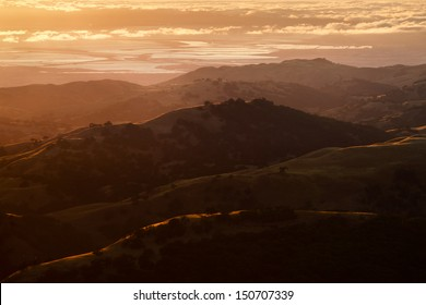 View of the Silicon Valley at sunset from Mount Hamilton.