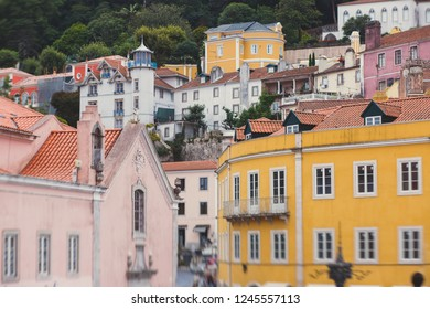 View of Sintra historical old town center, Portugal, Lisbon district, Grande Lisboa