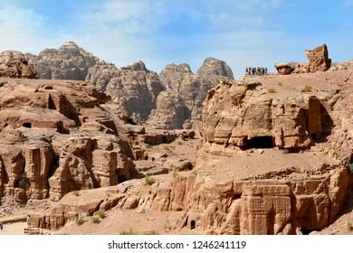 View of Siq canyon Petra Jordan