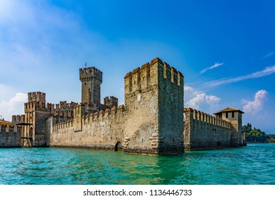 View of Sirmione from the Garda lake