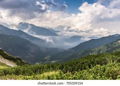 View from Siroke sedlo, Tatra mountains, Slovakia