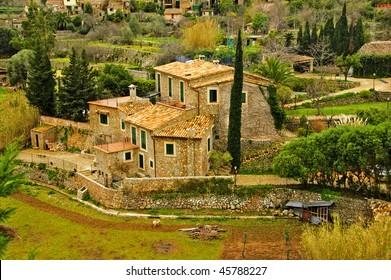 a view of a Siurana, an ancient village in tarragona, spain