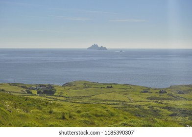 A View of Skellig Islands from Shore, Ireland