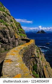 View from Skellig Michael to Little Skellig, Valentia Island,Ireland,Europe