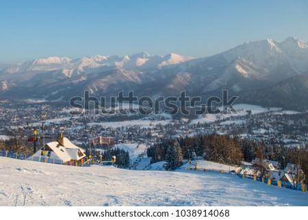 View Ski Resort Zakopane Mount Szymoszkowa Stock Photo Edit Now