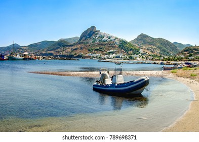 View of Skiros island, located in Sporades, Greece