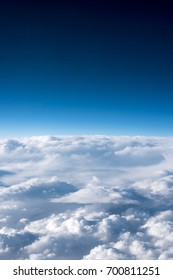 View of sky and clouds form airplane