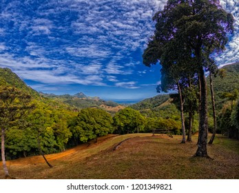 View of sky from Ferney valleys locate in the south east of Mauritius island