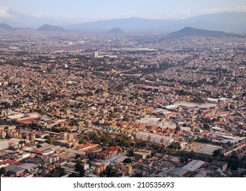 View from the sky, the Greater Mexico City has a population of approximately 20 million people.