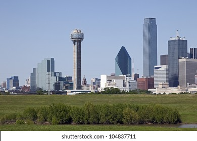 A View of the Skyline of Dallas, Texas, USA.