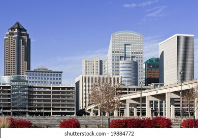 A view of the skyline of Des Moines Iowa