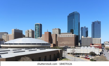 A view of the skyline of downtown Fort Worth, Texas.