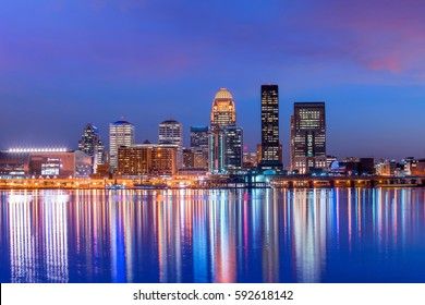 View of  Skyline downtown Louisville in Kentucky USA