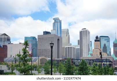 View of the skyline in downtown Minneapolis