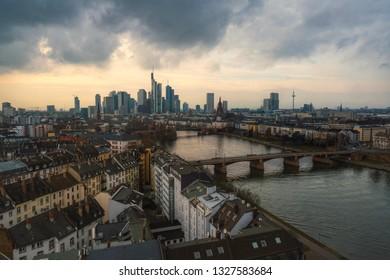 View of the skyline of Frankfurt am Main
