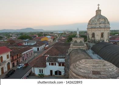 A view of the skyline of Granada, Nicaragua