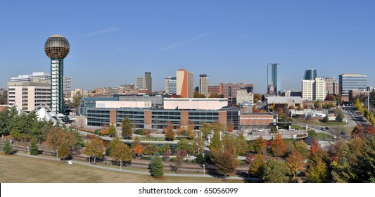 A view of the skyline of Knoxville, Tennessee.