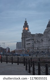 View of the skyline in Liverpool, UK.