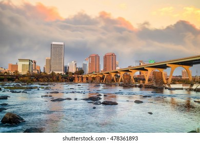 View of the skyline in Richmond, Virginia in USA