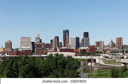 A view of the skyline of Saint Paul, Minnesota.