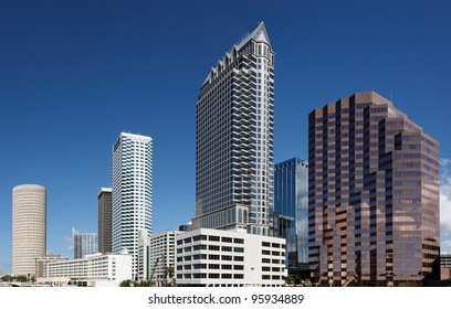 A view of the skyline of Tampa, Florida.