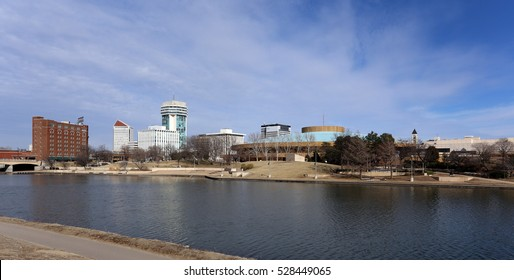 A view of the skyline of Wichita, Kansas.