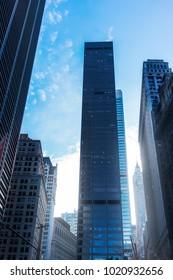 View of skyscrapers in Manhattan.