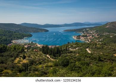 View of Slano and Adriatic sea near Dubrovnik, Croatia