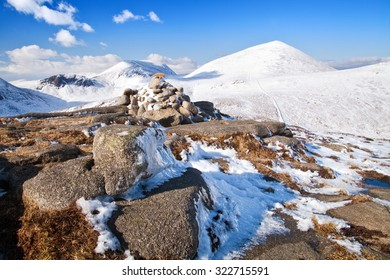 View of Slieve Donard from the summit cairn of Rocky Mountain