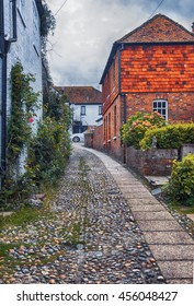 view at small street in Rye, Sussex , UK