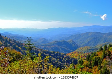 View of the Smokey Mountains