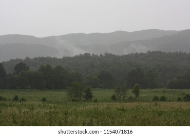 A view of the Smokey Mountains with the mist that they are named for