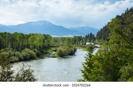 View of the Snake River South Fork in the Swan Valley of Idaho